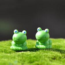Mini Figuren Miniatur Frosch Tier Harz Handwerk Garten Hauptdekorationen