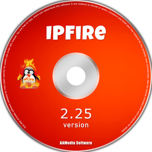 IPFire 2.25 Desktop 64bit Live Bootable CD Rom Linux Operating System