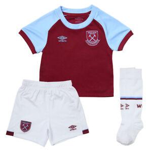 100% Genuine Umbro West Ham United Kids Home Kit 2020/21, Size: 6-7 Years