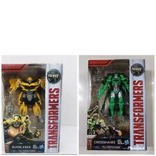 Hasbro TRANSFORMERS THE LAST KNIGHT BUMBLEBEE And CROSSHAIRS Premier Edition
