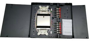 12 Fiber Wall Mount w/ ST Adapters, Multimode 62.5/125 Pigtails & Splice Tray