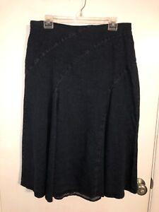 NEW $98 Reba Women's Size 12 Blue Denim Jean A-line Maxi Skirt Long Modest