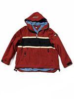Tommy Hilfiger Down Puffer Coat Red Box Logo Jacket Hooded Mens XL Parka