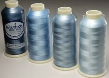 Marathon Viscose Rayon Embroidery machine thread: Shade Pack -  Blues 1,000m x 4