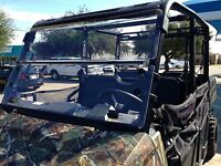 A&S POLARIS RANGER 570 MIDSIZE 3/16 POLYCARBONATE FOLD DOWN WINDSHIELD 2015-2020