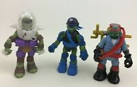 "Teenage Mutant Ninja Turtles 4.5"" Action Figure Toy Lot 3pc TMNT Playmates A1"