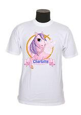tee-shirt enfant licorne personnalisable avec prénom au choix réf 93