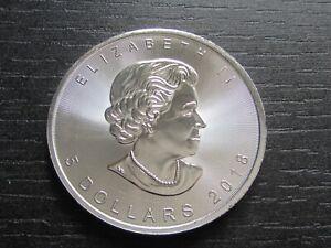 1 oz Silber 999 Maple Leaf 5 Dollars 2018 Kanada, prägefrisch