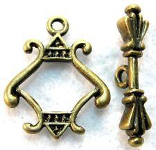 10Sets Tibetan Antique Bronze Unique Toggle Clasps Connectors Hooks C343