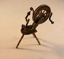 Antique Dutch Miniature 833 Sterling Spinning Wheel