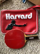 Vintage New Old Stock Harvard Ping Pong Table Tennis Paddle ,Bag Case