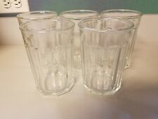 Luminarc  Tumblers Glasses 10 Panel Vintage Made in France ~ Set of 5