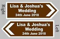Large Personalised Wedding Direction Sign, Road Sign with names, event and date