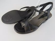 DANSKO Black Leather Ankle Strap Sandals Heels Shoes Women's EU 41 US 10.5-11