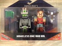 MINECRAFT Dungeons NAMELESS ONE AND HAL Figures Battle Accessories Mojang 2020