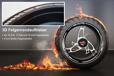 Rim Sticker Gp-Style 3D Chrome 700009 for 16 Inches 17 Inches 18 Inch