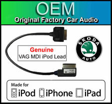 SKODA Amundsen iPod iPhone iPad cable, ORIGINAL VAG Pieza MDI Kit media en plomo