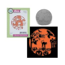 Halloween Scene Metal Die Cut Impression Obsession Cutting Dies DIE588-Y Words