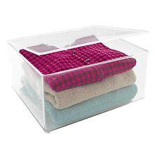 SEHR GUT: mDesign stapelbarer Kleiderbox - Schrank-Aufbewahrungsbox mit Deckel