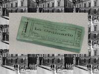 R@RISSIMO BUONO(1° ORDINARIO) MENSA CARABINIERI CASERMA PODGORA ROMA ANNO 1930