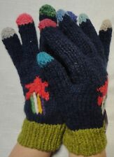 NEW, HIGH QUALITY, ALPACA AND SHEEP WOOL, HAND KNITTED GLOVES, ANDEAN, WARM p