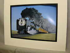 Union Pacific # 8444 Artist Illustrated  Color Steam Railroad Archives Hw