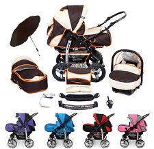 Kombi Kinderwagen Kamel Pram Buggy Pushchair Stroller als Set 5in1 + Schirm frei