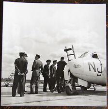 AVIATION, PHOTO AVION VAMPIRE SF/DH 100, BRETIGNY SUR ORGE, GENERAL lADOUSSE