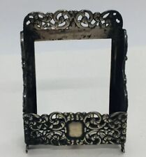 Unger Brothers Antique Sterling Silver Repousse Small Card Holder Stand