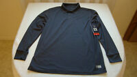 Men's Russell Athletic Dri Power Long Sleeve Polo Shirt Size Medium Stealth NEW