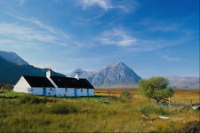 683058 Cottage Glen Coe A4 Photo Print