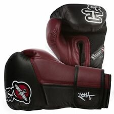 Hayabusa Tokushu Boxing MMA Gloves 10 oz Black Crimson Red