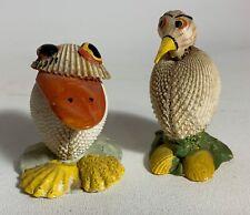 Vintage Seashell Art Small Bird Figures