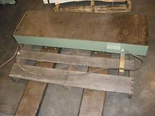 """Electro Magnetic Chuck Fine Pole 14"""" x 48"""" x 5""""H Grinder, EDM, Mill"""