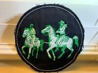 """Vintage 5"""" Cowboy Western Rodeo Horse PATCH Embroidered Iron On Sew On RARE"""