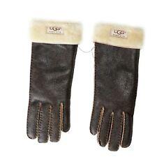 UGG 100% Leather Brown Unisex Winter Gloves Sz L