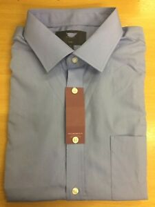 EX-M&S New PolyCotton PLAIN SHIRT Long AND SHORT Sleeve Casual Work Formal