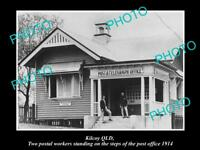 OLD LARGE HISTORIC PHOTO OF KILCOY QLD, VIEW OF THE POST OFFICE c1914