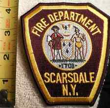 SCARSDALE NY FIRE DEPARTMENT PATCH (FIRE, STATE POLICE, EMS, SHERIFF)