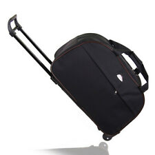 """24"""" Rolling Wheeled Tote Duffle Bag Carry On Luggage Trolley Bag Travel Suitcase"""