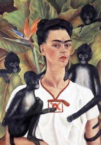 Self Portrait with Monkeys * FRIDA KAHLO  QUALITY CANVAS PRINT