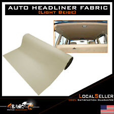 "Automotive Headliner Fabric Interior Backing Sunroof Decorative Beige 48""x100"""