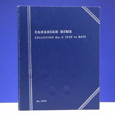 Canadian Dime Collection No. 1 1858 To 1936 Whitman Blue No. 9065 Coin Book C079