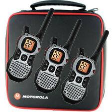 3 MOTOROLA Walkie Talkie MJ270R MJ430R FRS GMRS 2-Way Radios QT Weather Ni-MH