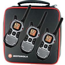 3 MOTOROLA Walkie Talkie MJ270R MJ430R FRS GMRS 2-Way Radios QT Weather Ni-MH