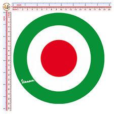 adesivi auto moto casco sticker vespa decal helmet tuning 1 pz. italian flag