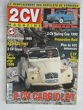 2 CV MAGAZINE n° 8 /2 CV CAB/2 CV AZU 1957/2 CV RACING CUP/2 CV CROSS/AMI 6 BREA