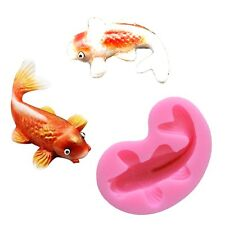 3D Silicone Fondant Fish Mold Cake Chocolate Soap Candle Mould Baking Tool Pink