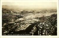 Tacoma WA Aerial View Real Photo Postcard