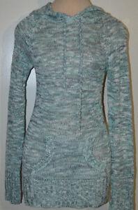 Women's Rue 21 Mint Green Blend Long Sleeve Hoodie Sweater Top Sizes S, M, L, XL